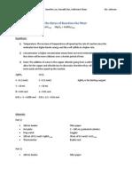 UPDATE - Chem Reaction Rates Lab-3