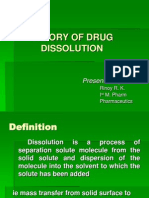 Theory of Drug Dissolution