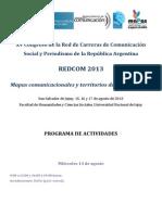 Programa de Actividades REDCOM 2013 (Para DIFUNDIR)