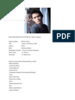 Baik Inilah Biodata Dan Profil Rezky Aditya Lengkap