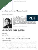 La Cultura Es El Cuerpo_ Tadashi Suzuki _ Gabriel Galvis