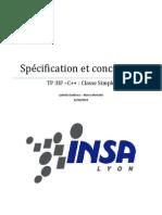 Spécifaction - Projet cartographie