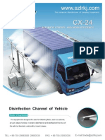 CX-24 Model Vehicle Disinfection Channel