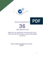 Proyecto de Comunicación 36 CERO DESNUTRICIÓN / CECODE