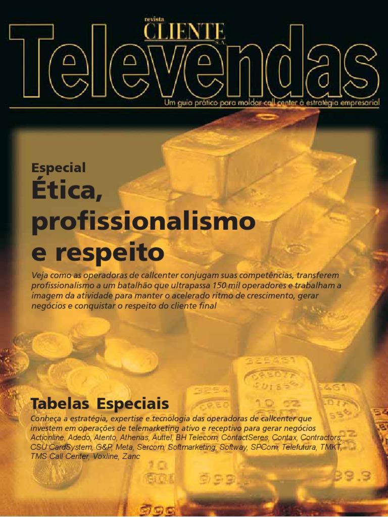 Caderno Televendas Parte Integrante Da Revista Clientesa