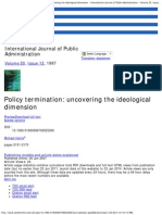 Professor Michael Harris Eastern Michigan University on Taylor & Francis Online, Intl. Journal of Public Administration, Policy Termination Uncovering the Ideological Dimenssion