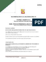 Trial TERM 2 MATHEMATICS T 2013