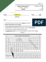 Midterm II a Key Chem 2321 F13'