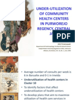 Under-utilization of Community Health Centers