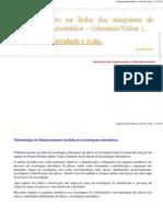 BALANCEAMENTO DA LINHA DA ESCARFAGEM AUTOMÁTICA USIMINAS  - USINA1