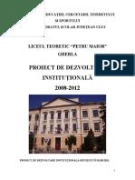 Proiect de Dezvoltare_Institutionala