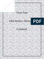 Great Aunt Ethel Beatrice McIntyres' Cookbook Copyright Jan 2014