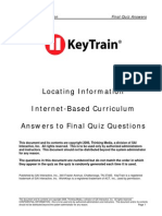 KeyTrain Locating Information Level 1 - 6 ANSWERS