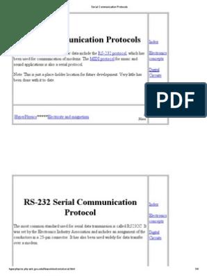 Serial Communication Protocols | Modem | Data Transmission