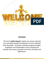 public deposit
