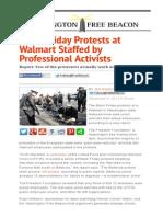 Black Friday Protests at Walmart Staffed by Professional Activists _ Washington Free Beacon