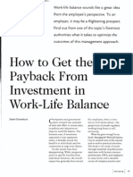 how to get the payback from worklife balance