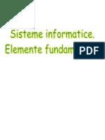 Sisteme Informatice Elemente Fundamentale