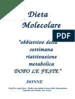 Dieta Molecolare Attivazione Metabolica Donne