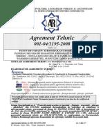 Agrement Tehnic - Panou Termoizolant BOND STYLE