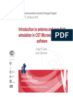 Introduction to Antenna and Near-field Simulation in CST