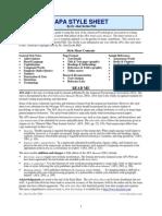 APA Style Sheet