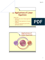 12 Applications of Linear Equations