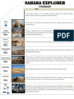 Sahara Explorer Detailed Itinerary