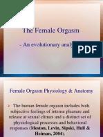 Female Orgasm-An Evolutionary Analysis