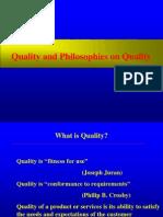 Quality Philosophies