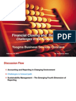 Financial Statement Closting & Reporting - Yoogma Business Services Conclave, February, 2011