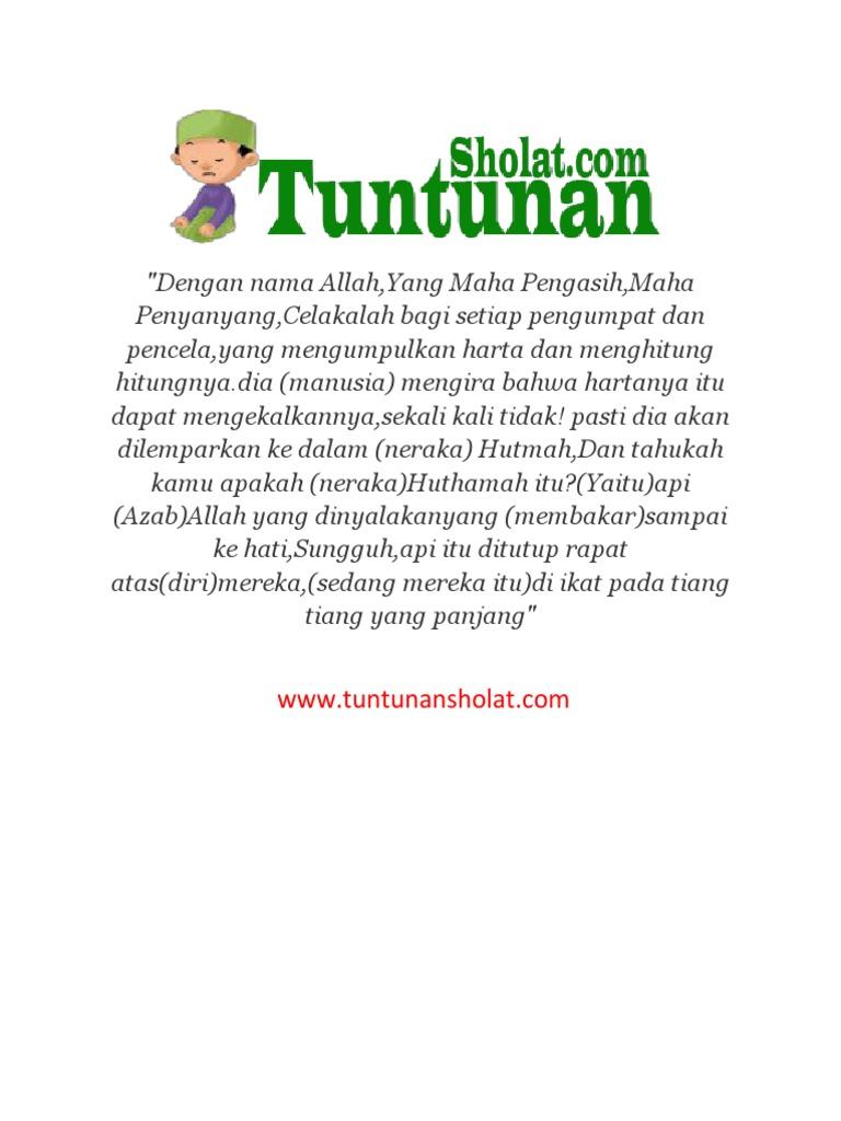 Arti Surat Al Humazah