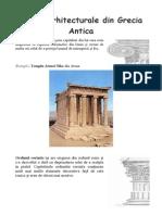 Stiluri Arhitecturale Din Grecia Antica