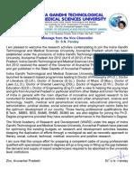 Prospectus Indira Gandhi Arunachal
