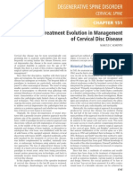 Treatment Evolution in Management of Cervical Disc Disease