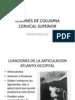 11 – LESIONES DE COLUMNA CERVICAL SUPERIOR