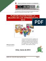 2013_Plan de Accion Mejora de Los Aprendizajes