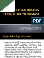 3. Penelitian Bidang Teknologi Informasi