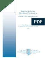 Family Medicine Bioethics Curriculum
