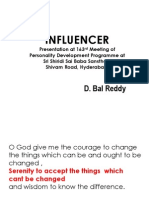 2014Jan26 - Influencer - Presentation by D. Bal Reddy