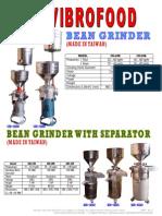 042- Fm ~ 34 Vibrofood Bean Grinder & Bean Grinder With Separator (Rev. 3)