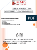 content of cold drinks