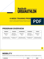 Men's Health Urbanathlon - 4 weeks workout