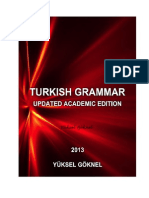 TURKISH GRAMMAR UPDATED ACADEMIC EDITION YÜKSEL GÖKNEL September  2013-signed