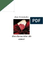 Declaración de amor - Ana Mª Fernandez