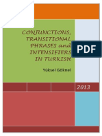 Conjunctions, Transitional Phrases and Intensifiers in Turkish Yuksel Goknel-signed
