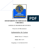 Proyecto Del Primer Parcial Analisis Del Mecanismo Aplastador de Latas