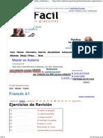 Curso gratis de Francés A1 - Ejercicios de Revisión