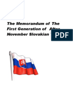 The Memorandum of Slovakian Youth