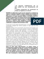 Notas Para Un Analisis Comparativo de La Constitucion Del Campo de Los Economistas Em Argentina y Brasil